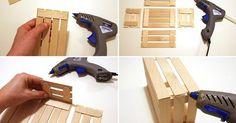 Liked on Pinterest: mini cassetta di legno fai da te - tutorial