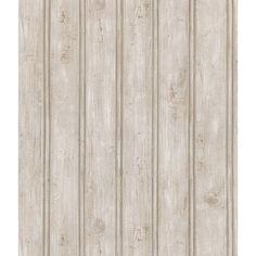 Brewster Grayling Textured Wood Paneling Wallpaper Light Gray - 145-41389