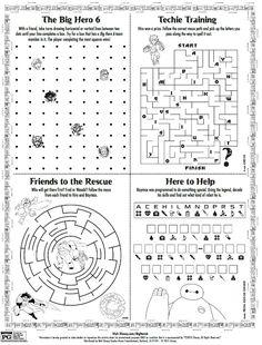 Disney Big Hero 6 Printable Activity Page