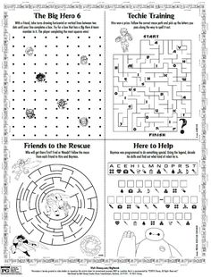 disney big hero 6 printable activity page - Activity Pages Printable