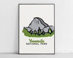 Yosemite National Park - Adventure Kids Decor - 11″ × 14″ / CG matt