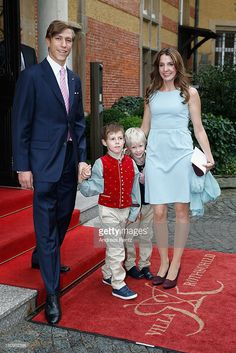 Prince Louis of Luxembourg, Prince Gabriel of Luxembourg, Prince Noah of Luxmebourg and Princess Tessy of Luxembourg arrive at their Civil Wedding Ceremony at Villa Rothschild Kempinski on September 17, 2013 in Konigstein, Germany.
