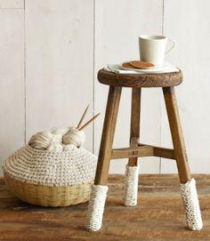 stool and yarn