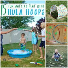 Fun ways to play with hula hoops!!!