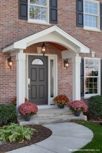 how to add curb appeal with a portico front door