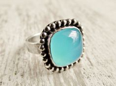 #West Wind Creations      #ring                     #Blue #Green #Chalcedony #Ring #Aqua #Modern #Western #Style #Sterling #Ring  Blue Green Chalcedony Ring Aqua Modern Western Style Sterling Ring                                      http://www.seapai.com/product.aspx?PID=684363