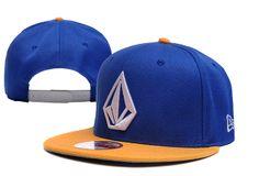 VOLCOM Snapback Hats Blue Yellow New Erafifty 0449