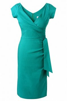 The Pretty Dress Company - Peacock Hourglass Vintage Pencil dress