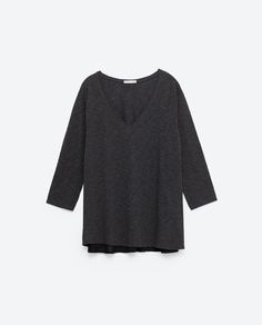 T-SHIRT WITH 3/4 SLEEVES - Zara