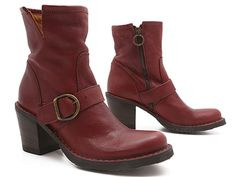 Oh, red boot of buckled beauty, you make us want to kiss the craftsmen at Fiorentini + Baker! xo, Ped Shoes.