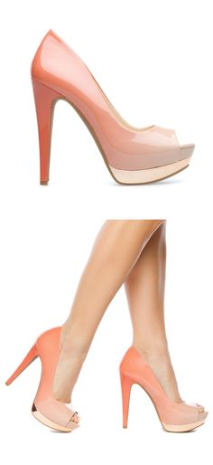 Sunset ombre pumps