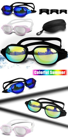 c95e6a4c13b8 Goggles 74051  Swimming Goggles Anti Fog Uv Protection Adult Clear Swim  Glasses Adjustable Mask -