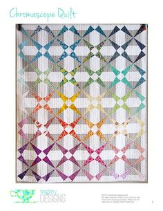 Teaginny Designs: Introducing the Chromascope Quilt Quilting Tutorials, Quilting Projects, Quilting Designs, Sewing Tutorials, Quilt Design, Quilting Ideas, Modern Quilting, Sewing Ideas, Craft Projects