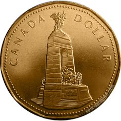 Canadian Coin Collection: 1994 - The National War Memorial coin Rare Coins Worth Money, Valuable Coins, Canadian Things, Coin Worth, Gold And Silver Coins, Canadian History, Antique Coins, World Coins, Dollar Coin