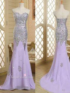 Fashion Mermaid Sweetheart Long Lavender Beading Prom Dress/Evening Dress CHPD-30991