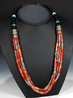 Native American Indian Jewelry Hand Crafted Necklace by Tommy Singer by dixie Handgefertigte Halskette mit indianischem Schmuck von Tommy Singer by dixie Ethnic Jewelry, Navajo Jewelry, Southwest Jewelry, Turquoise Jewelry, Beaded Jewelry, Silver Jewelry, Handmade Jewelry, Jewelry Necklaces, Beaded Necklace