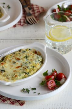 Spinach, ricotta and portobello gratins, from An Edible Mosaic.