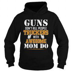 Awesome Tee TRUCKER GUN T-Shirts