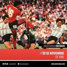 #IndependienteHistorico Fecha 21 del Torneo 86/87. Clásico de Avellaneda en la Doble Visera . #Independiente empata 2-2 frente a Racing.