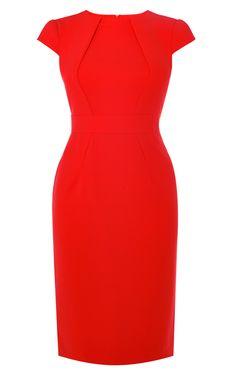 Платье-футляр красного цвета Karen Millen. Цвет , купить за 26208р в официальном интернет магазине karenmillen.ru с доставкой по России