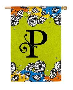 Gablecrest Monogram Letter P House Flag