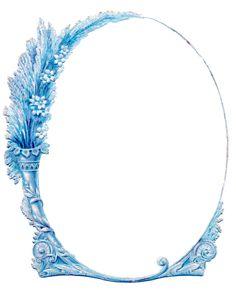 Blue Bouquet Vintage Oval Frame LAMINAS ANTIGUAS 3 Ideas Y Trabajos Terminados Pag