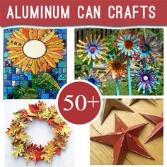 50+ Ways to Repurpose Aluminum cans into great recycled jewelry, crafts and decor