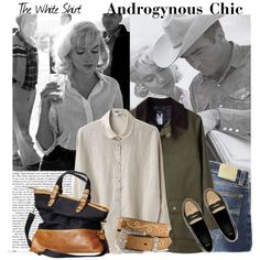 """""""Marilyn could make a mans white shirt sexy"""" by funkyfashion on Polyvore"""