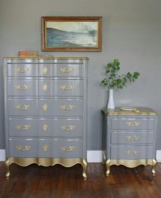 Dresser - Gold and Grey