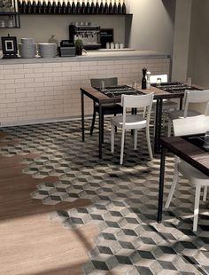 Love the mix of tiles here Elite Bathware & Tiles – TERRA