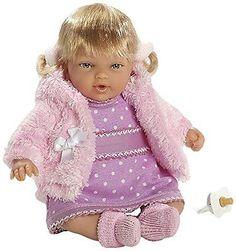 Elegance - bambola Hanne con risate e borsa meccanismo magnetico, 26 cm (Arias