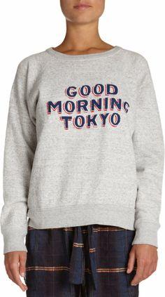 "Isabel Marant Étoile Halen ""Good Morning Tokyo"" Sweatshirt at Barneys.com"