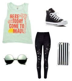"""""""Summer chill"""" by jalynnexpaige ❤ liked on Polyvore featuring Billabong, MICHAEL Michael Kors, Revo, WithChic and Converse"""