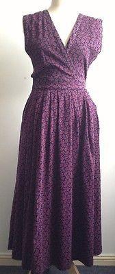 Vintage Dress Pinafore Laura Ashley Flowers 70s 1970s S/M Size 10 Rare Grunge | eBay