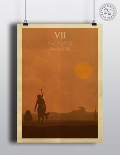 Star Wars Episode VII - Minimalist Poster by Posteritty