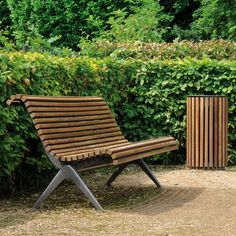Contemporary public bench in wood and metal (with backrest) ROME AREA
