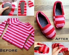 Turn a Sweater into Slippers – DIY