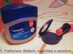 DIY Purple Lipstick Faça você mesmo seu batom roxo