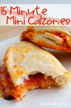 Wine and Glue: 15 Minute Mini Calzones