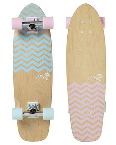 "OBFIVE CRUISER SKATEBOARD 28"""" - CHEVRON"
