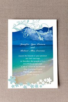 6 Perfect Shades of Blue Wedding Color Ideas and Wedding Invitations Summer Wedding Invitations, Beach Wedding Invitations, Blue Beach Wedding, Wedding Colors, Beach Ceremony, Team Bride, Wedding Decorations, Wedding Ideas, Shades Of Blue