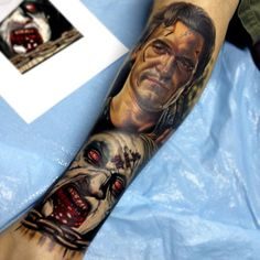 Evil Dead tattoo by Nikko Hurtado