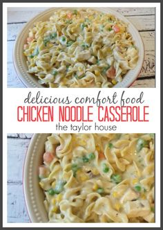 Chicken Noodle Casserole is the perfect comfort food. This recipe freezes well too, so you can make it ahead.