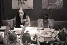 Vahva ja mänguline kunsti töötuba lastele, kellele meeldib viibida loomingulises keskkonnas!  L ja P 12:00-15:00 Kultuutikatlas. Töötuba viib läbi Eva-Karlotta Tatar