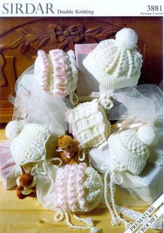 baby crochet pattern for baby bonnets oys and girls prem to Crochet Baby  Bonnet 15c50778d30