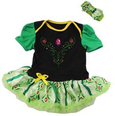 Amedahk Baby Princess Coronation Costume Bodysuit Dress L Green Disney Baby Clothes, Cute Baby Clothes, Baby Disney, Babies Clothes, Disney Baby Costumes, Disney Frozen, Princess Outfits, Baby Princess, Girl Outfits