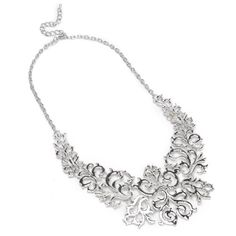 Fashion Retro Silver Chain Flower Vine Hollow Adjustable Bib Pendant Necklace ComeOnBuying http://www.amazon.com/dp/B00A2L5MFA/ref=cm_sw_r_pi_dp_-ltTtb1MXB22VYJY