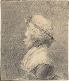 Augustin de Saint-Aubin | Profile of a Lady in a Bonnet | The Met