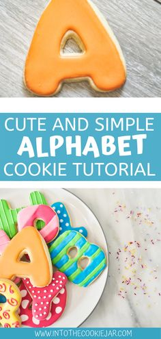 These alphabet cookies are super cute and wonderfully decorated, as well as colorful. Check out this alphabet cookie tutorial to learn how to make alphabet cookies out of sugar cookie dough and royal icing. These decorated cookies are sure to impress. Colorful Cookies Recipe, Royal Icing Cookies Recipe, Cookie Recipes For Kids, Best Cookie Recipes, Sugar Cookie Dough, Sugar Cookies, Alphabet Cookies, Cookie Tutorials, How To Make Cookies