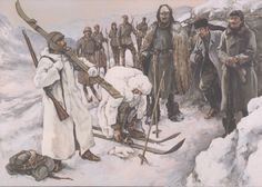 Ottoman army in the Caucasus, winter 1917-18: A çavuş (sergeant) and an er (private), ski troops
